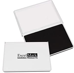 "ExcelMark Ink Pad for Rubber Stamps 2-1/8"" by 3-1/4"" - Black"