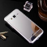 Hancda Housse Coque pour Samsung Galaxy J3 2016 / J320 Simple Etui Case Miroir Cover Silicone Doux Bumper Mince Shell Miroir Case Protection