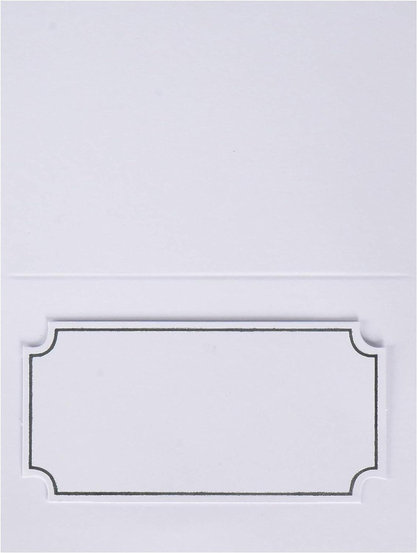 Gartner Studios 12614 Silver Foil Place Cards (Pack of 50)