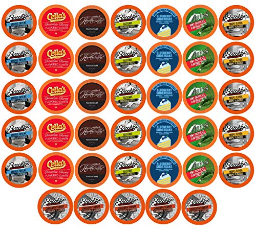 BEST Of The BEST Flavored Coffee Pods, Variety Pack for Keurig K Cup Brewers, 40Count ()