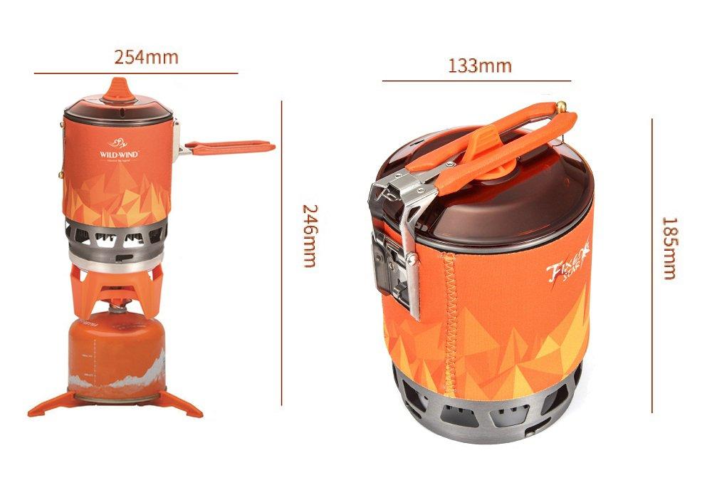 wild-wind Star X3 sistema de cocina exterior portátil Camping estufa con encendido piezoeléctrico bote de apoyo y soporte - ultraligero compacto viento alta ...