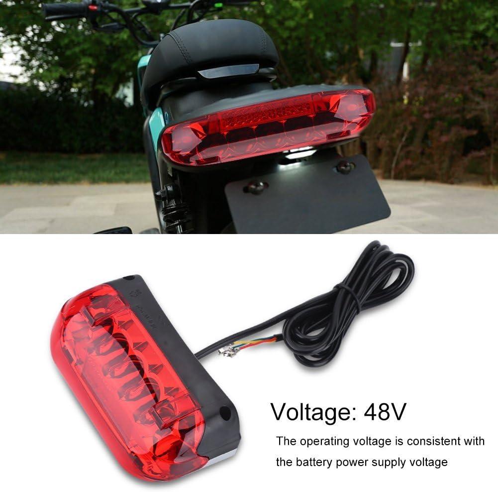 Alomejor /éclairage arri/ère V/élo /électrique 48/V Cyclisme Frein LED Lampe Portable Scooters arri/ère arri/ère pour la s/écurit/é