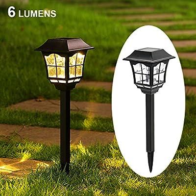 MAGGIFT 6 Lumens Solar Pathway Lights
