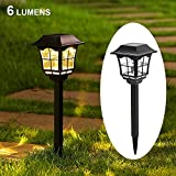 Maggift 6 Lumens Solar Pathway Lights Solar Garden Lights Outdoor Solar Landscape Lights for Lawn Patio Yard Pathway Walkway, 6 Pack For Sale