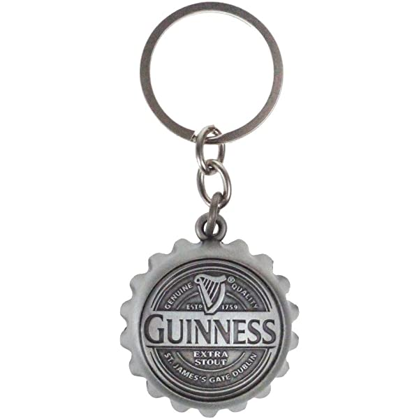 GUINNESS EXTRA STOUT 3 KEY RING BEER BOTTLE WRENCH METAL OPENER NEW