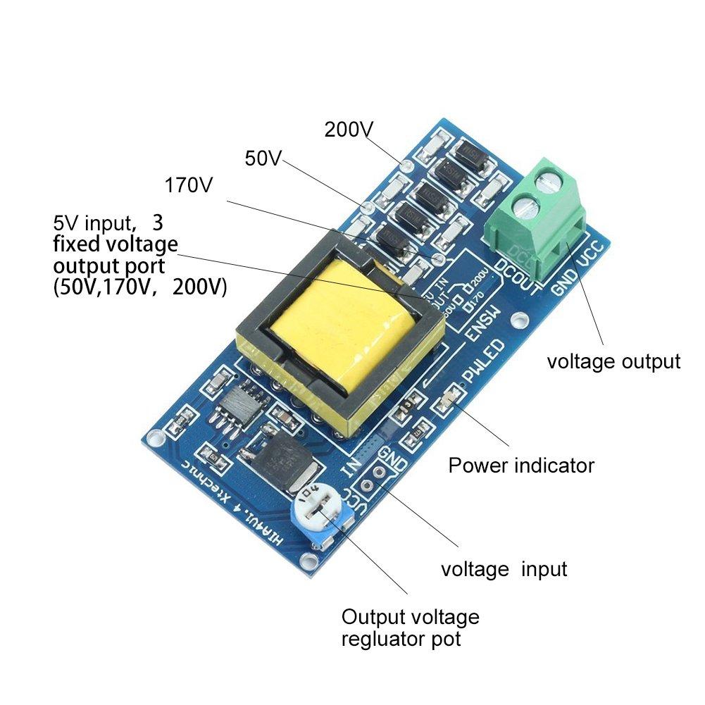 Circuit Board Voltage Conversion Booster Simple Boost Converter Regulation High Dc 5v 12v Input 300v 1200v Highest Output