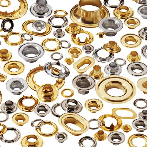 Stimpson Sheet Metal Grommet and Teeth Washer Brass Durable, Reliable, Heavy-Duty #1 Set (7,200 Pieces of Each) by Stimpson Co., Inc. (Image #2)