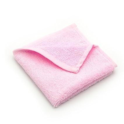 Bambú Fibra suave pequeño Pure Color bebé toallas/toallitas (3 unidades, 10 x