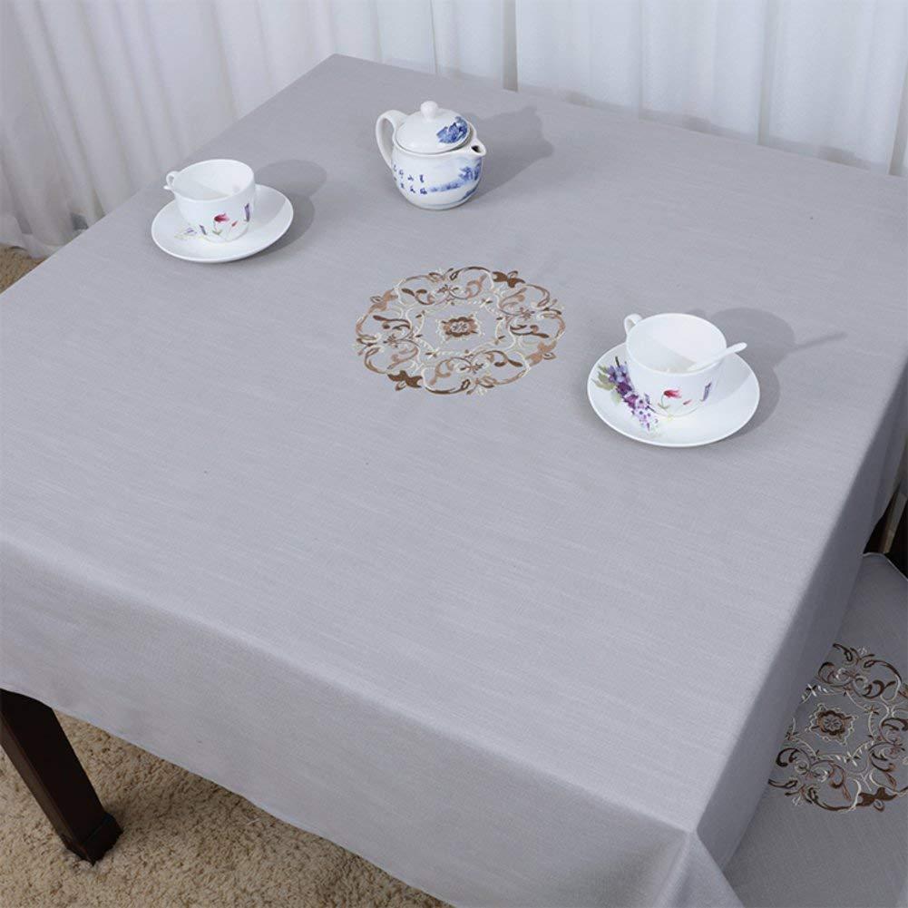 Shuangdeng 田舎のテーブルクロスファブリックTableclothTeaテーブルクロスデスクデスククロス (Color : J, サイズ : 90x90cm(35x35inch)) 90x90cm(35x35inch) J B07SCKB5R4