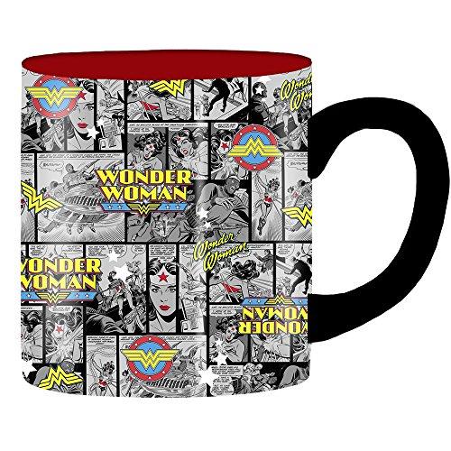 Silver Buffalo WW6034 DC Comics Wonder Woman Comic Strip Ceramic Mug, 20-Ounces