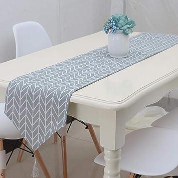 Superieur ZXY Chemin De Table Coton Gris Géométrique Moderne Et Chemins De Table Lin  Du Pavillon Nordique