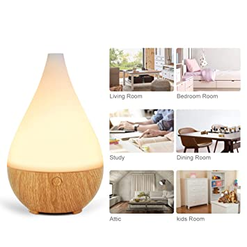 InnoGear 300ml Essential Oil Diffuser, Aroma Essential Oil Cool Mist Humidifier Ultrasonic Aromatherapy Diffusers Waterless Auto Shut-off, Night Light for Home Office Baby