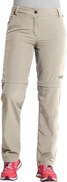Jack Wolfskin Damen Marrakech Zip Off Pants Uv Schutz Outdoor Schnelltrocknend Freizeit, Reisehose Hose