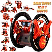 CIRO STEM 12-in-1 Education Solar Robot Toys -190 Pieces DIY Building Science Experiment Kit for Kids Aged 8-1