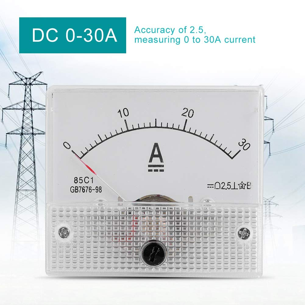 DC 0-10A Mini Current Analogue Ammeter Voltmeter,Professional Durable 2.5 Accuracy Voltage Analog Voltmeter Panel Ammeter Current Voltmeter of The CC 85 Analogue Current C1