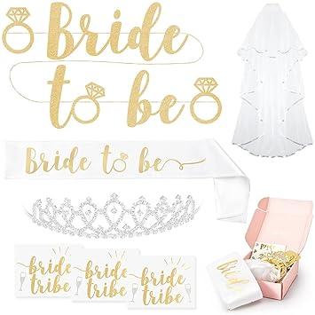 4f183ff8fef2 Bachelorette Party Décorations de Bride to Be – Kit de douche de mariage  Fournitures   Sash