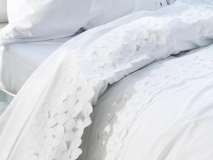 Dorte Hogar.- Colcha cubrecama Waffle blanca con puntilla para cama de 150 cm en medida 240 x 270 cm: Amazon.es: Hogar
