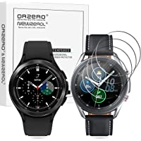 (4 Pack) Orzero Tempered Glass Screen Protector Compatible for Samsung Galaxy Watch 4 Classic 46mm, Galaxy Watch 3 45mm…