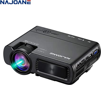 Amazon.com: Najoane Mini Proyector, Full HD LED Proyector El ...