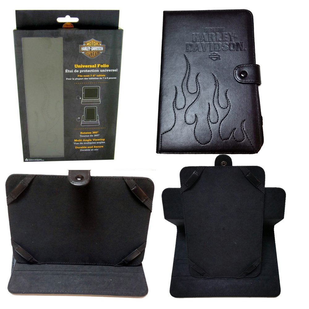 Harley Davidson Licensed Tablet Rotating Cover & Stand for iPad 2, iPad 3, iPad 4