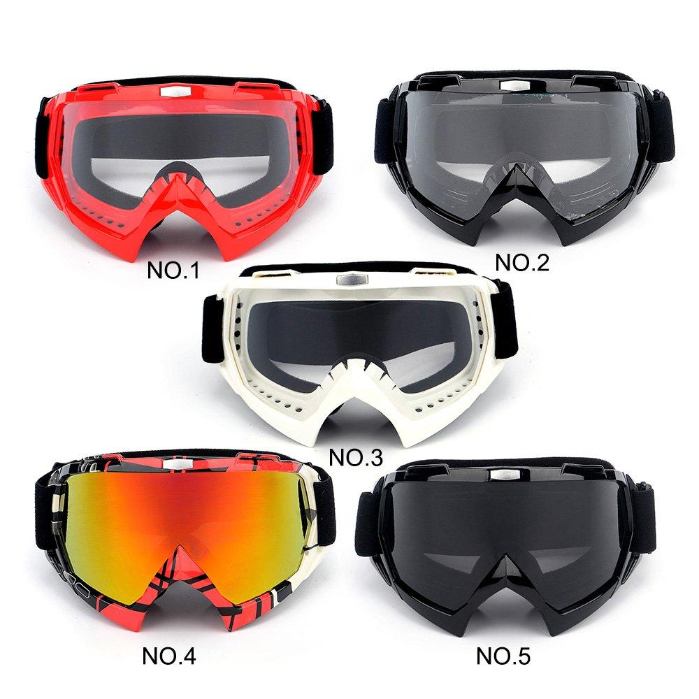 KKmoon Motocross Lunettes Cyclisme MX hors Route Casques Sport Gafas Moto Dirt Bike Racing Masques de Ski