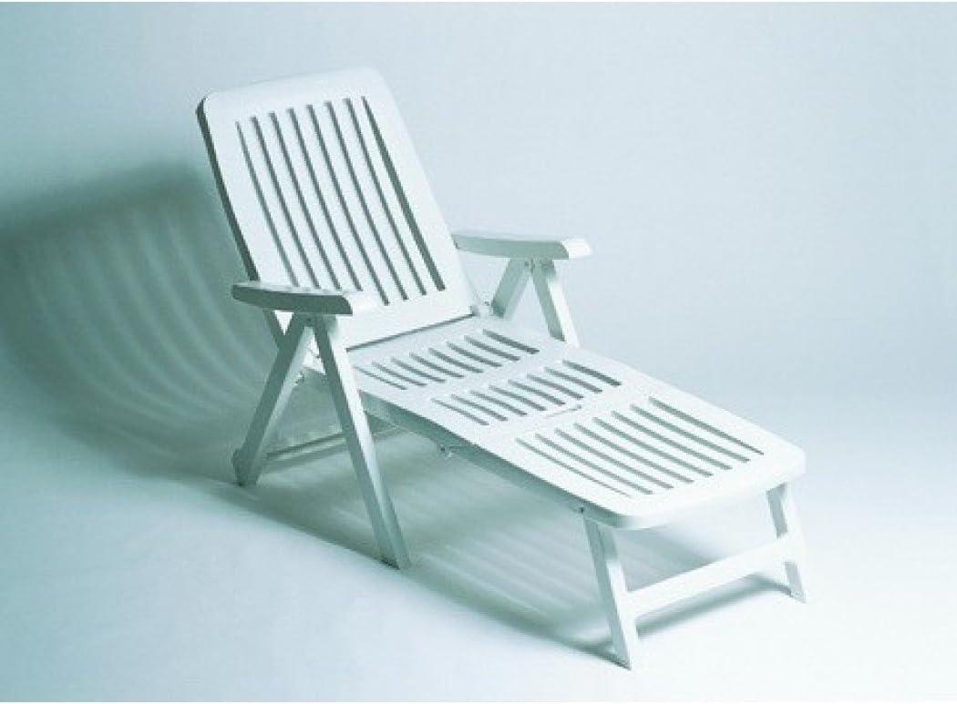 Garden Life 6043 Cama Plegable con Ruedas, Blanco, 85x67.5x15 cm