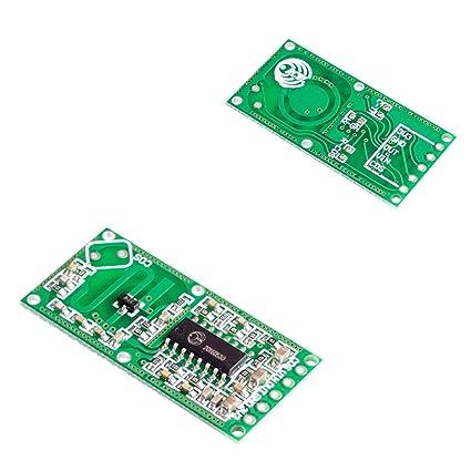 Gugutogo RCWL-0516 Doppler Radar Sensor Detector de movimiento Módulo de microondas para Arduino verde