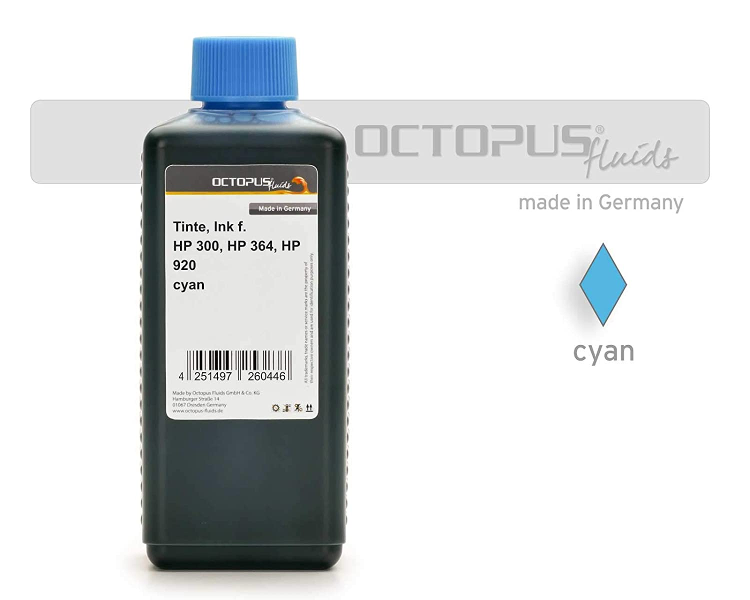 Octopus Ink for HP 17, HP 23, HP 41, HP 78 yellow 250ml: Amazon.es ...