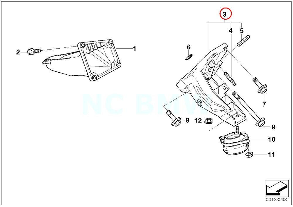 Amazon Com Bmw Genuine Left Engine Support Automotive