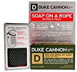 Cheap Duke Cannon Soap On A Rope Bundle Pack: Tactical Scrubber + Big Ass Brick of Soap (Victory)