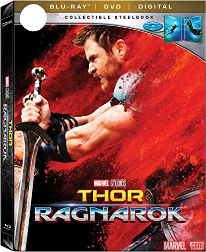 Thor  Ragnarok Limited Steelbook  Blu Ray Dvd Digital