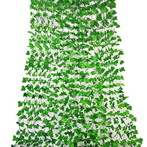 English Ivy Vine - Rurality 192 Feet - 24 Artificial Ivy Artificial Vines Fake Hanging Ivy English Ivy Silk Greenery Wedding Party Garlands