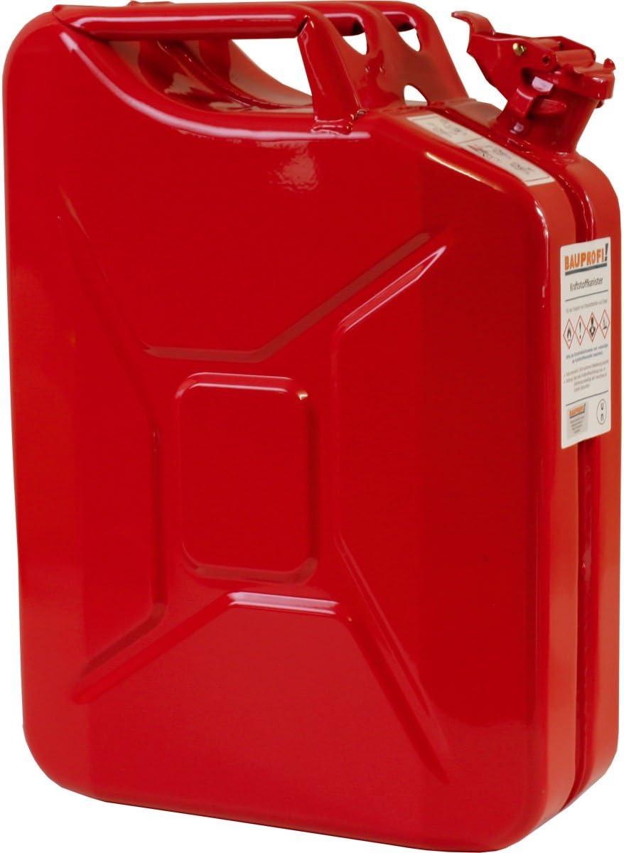 20 Liter Stahlblechkanister Ggvs Mit Sicherungsstift Rot Benzinkanister Metallkanister 20l Auto
