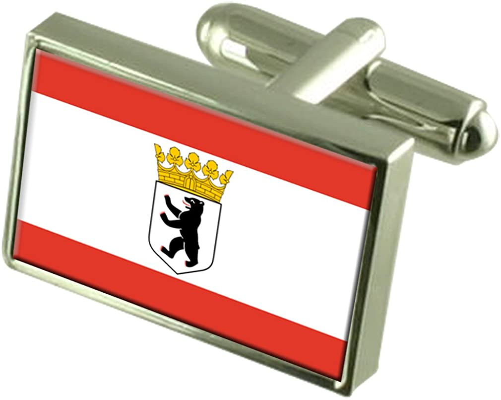 Select Gifts Berlin City Germany Flag Cufflinks