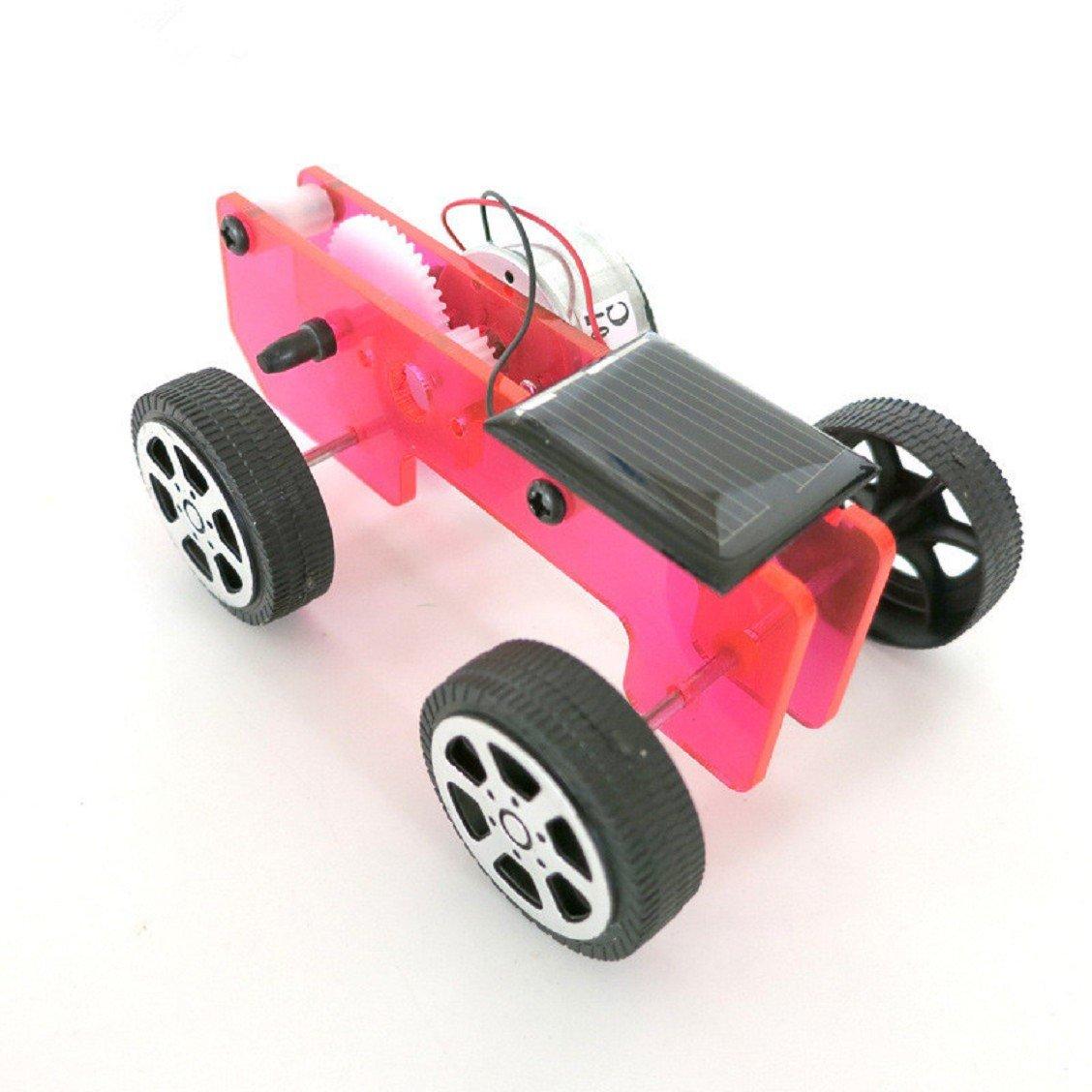 Naladoo 1 Set Mini Solar Powered Toy DIY Car Kit Children Educational Gadget Hobby Funny