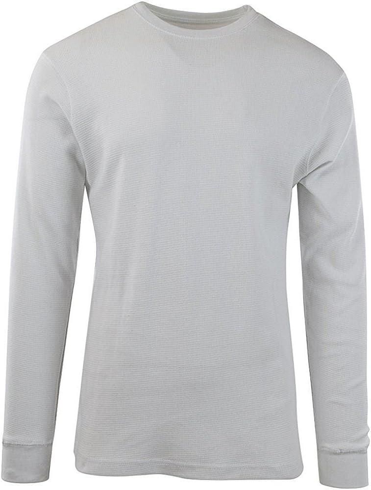 DFBB Men Faux Fur Lined Printed Long Sleeve Slim Fit Thermal T-Shirt Basic Top