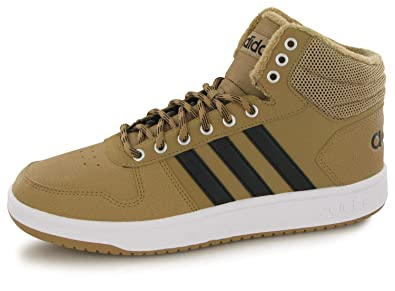 new arrival 48072 54696 adidas Hoops 2.0 Mid, Chaussures de Basketball Homme