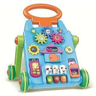 QHWJ Baby Walker, Trolley Giocattolo Multi-Funzione Anti-Side Fall Puzzle Tavolo da Studio Passeggino Walker Educazione precoce Giocattoli educativi