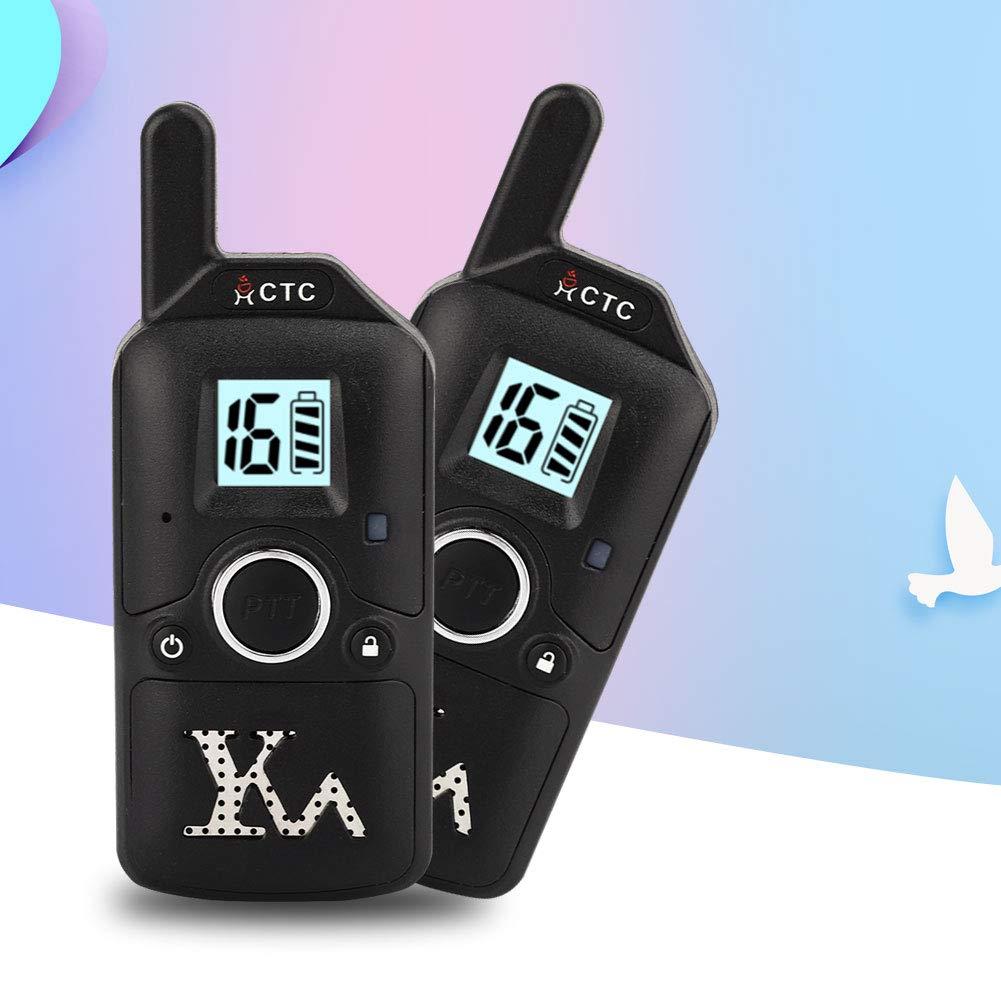 Yoidesu Walkie Talkie Children Mini Two Way Radio Mini Two Way Radio 400-480 MHz Children Walkie Talkie 99 Channel Kids Interphone(Black) by Yoidesu (Image #5)