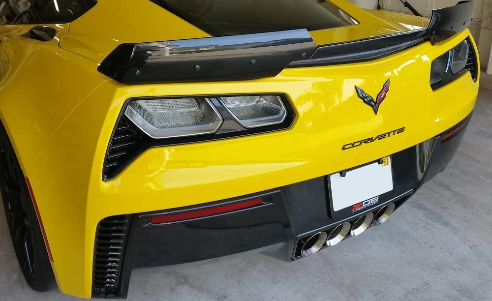 Amazon Com C7 Corvette Z06 2015 Gm Stage 2 3 Wickerbill Rear Spoiler Wing Upgrade Automotive