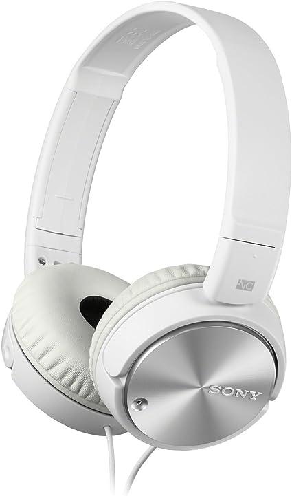 Sony MDR ZX110NA Cuffie On Ear con Microfono, Eliminazione del Rumore, Bianco