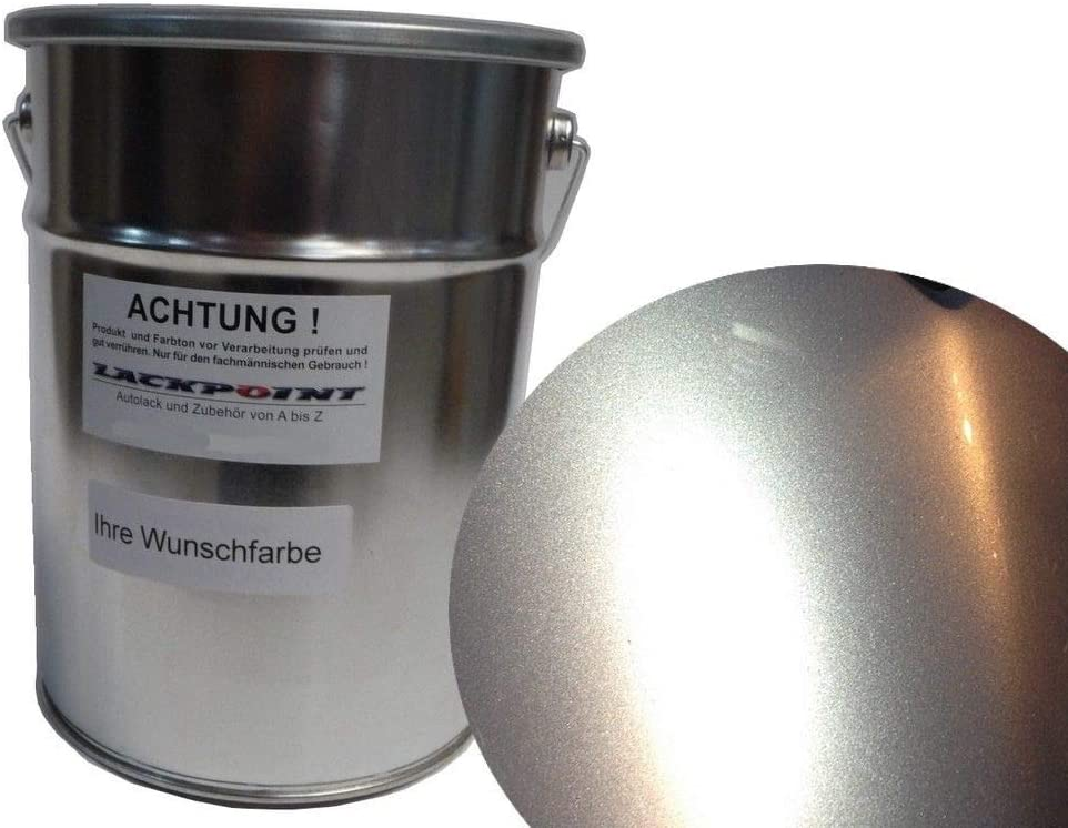 Lackpoint 0 5 Liter Spritzfertiger Wasserbasislack Für Vw A7w La7w Reflexsilber Metallic Autolack Auto
