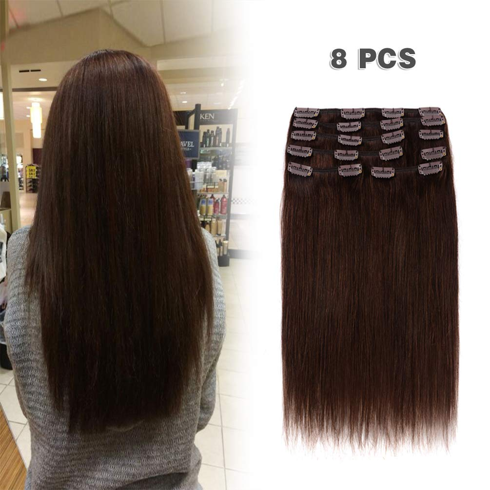 Amazon Winsky Clip In Remy Human Hair Extensions 130g 8pcs
