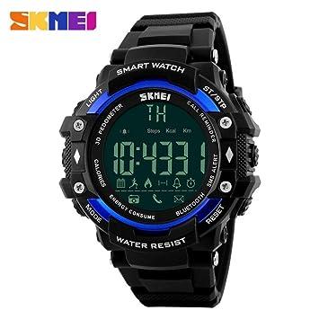 Reloj Inteligente Versión, Btruely Herren Smartwatch Android Bluetooth Smart Watch con Cámara/Podómetro/ Monitor de Sueño/Notificación de Whatsapp ...