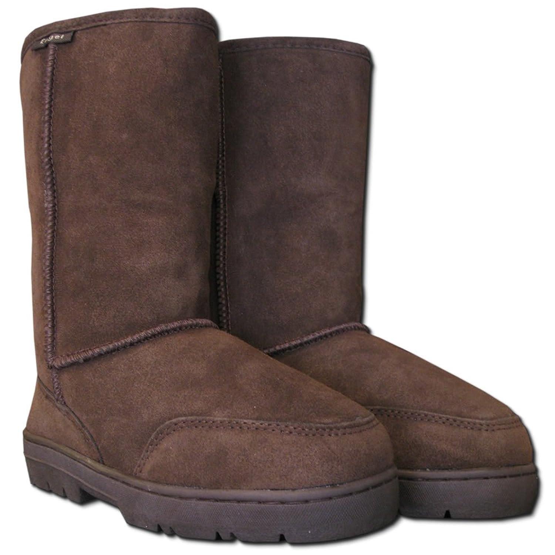Botas de invierno de piel de oveja LARA marrón 42 Venta de compras en línea Wiki en venta Outlet Pictures VkKg0