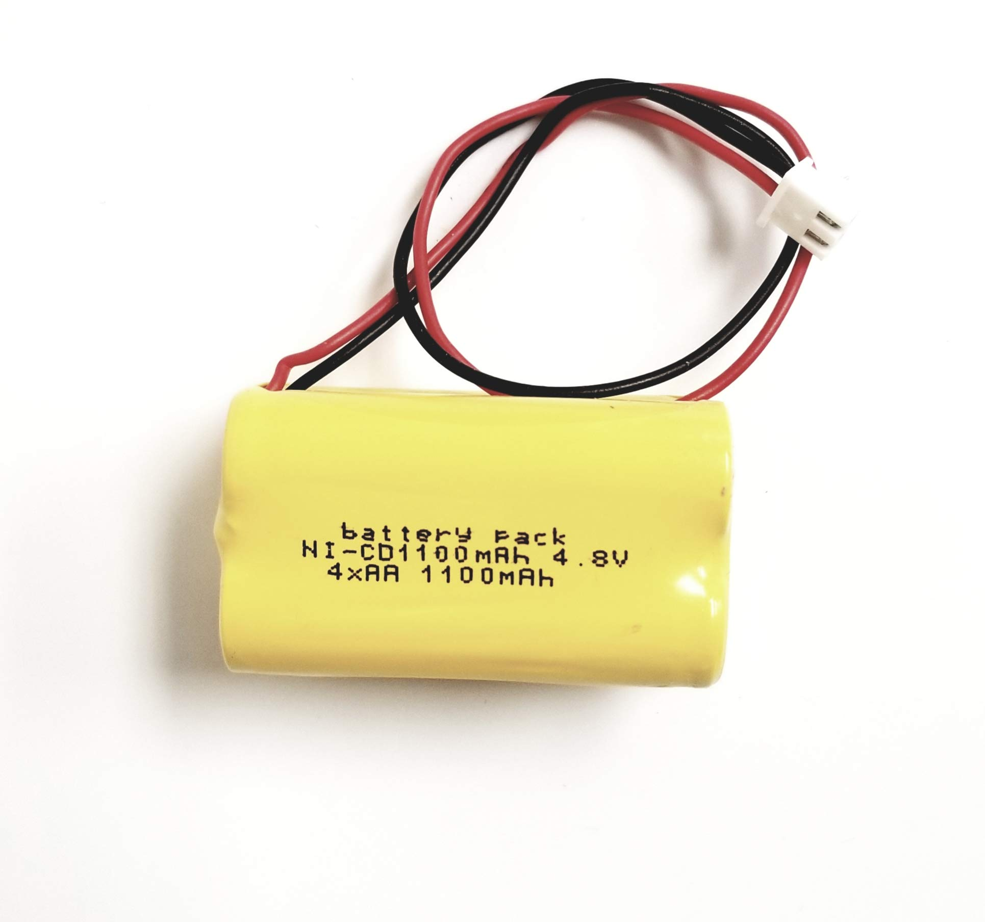 Emergency Exit Sign Battery Light Fixture Battery AA NiCAD 4.8v 1100mAh - Compatible with BAA48R Emerlight Daybright BL93NC487 At-Lite BL93NC484 4-TD-800AA-HP . By Shira TM