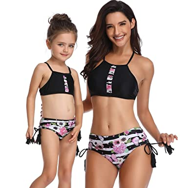 29598878cd Ababalaya Mommy and Me Matching Family Swimsuits Mother and Daughter ...
