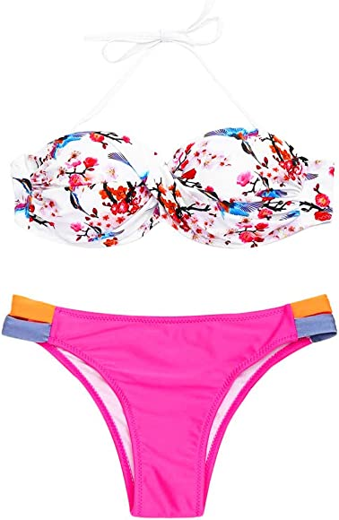 01483c4efc7aa6 Logobeing Bikini Mujer 2018 Acolchado Bra Push-Up Traje de Baño de Cintura  Alta Ropa de Playa Conjunto Bikinis