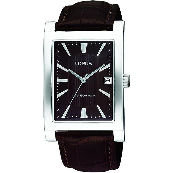 Lorus RXD23EX9 - Reloj para hombres, correa de cuero color marrón: Babar: Amazon.es: Relojes