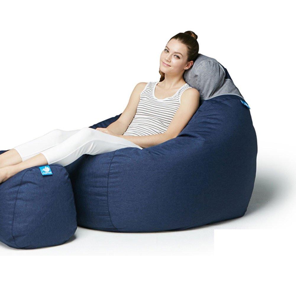 Polli Molli Bean Bag Beads Cushion 104K Grand Sofa Big Size [海外並行輸入品] (Navy) B0775YJ7TB Parent Navy